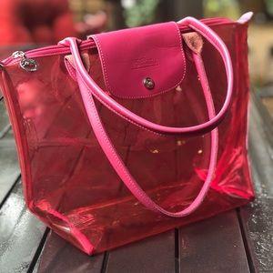RARE‼️Hot Pink Cristal Longchamp